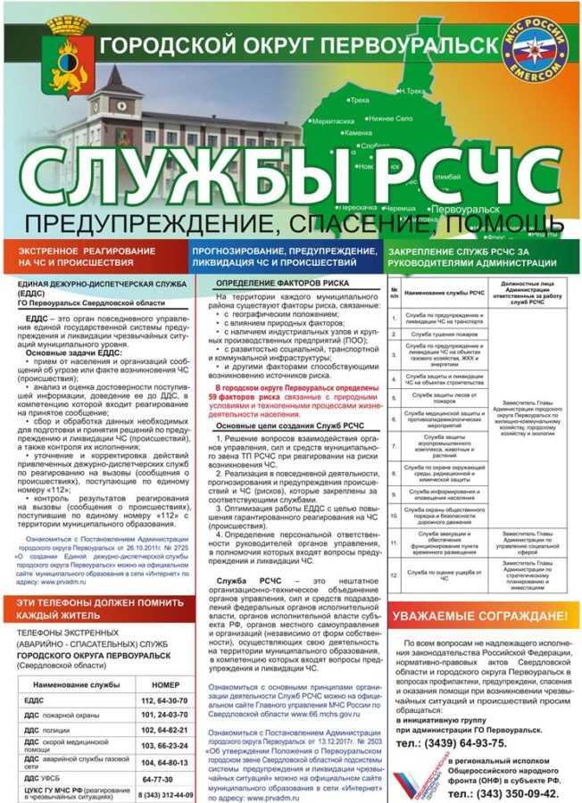 Службы РСЧС городского округа Первоуральск