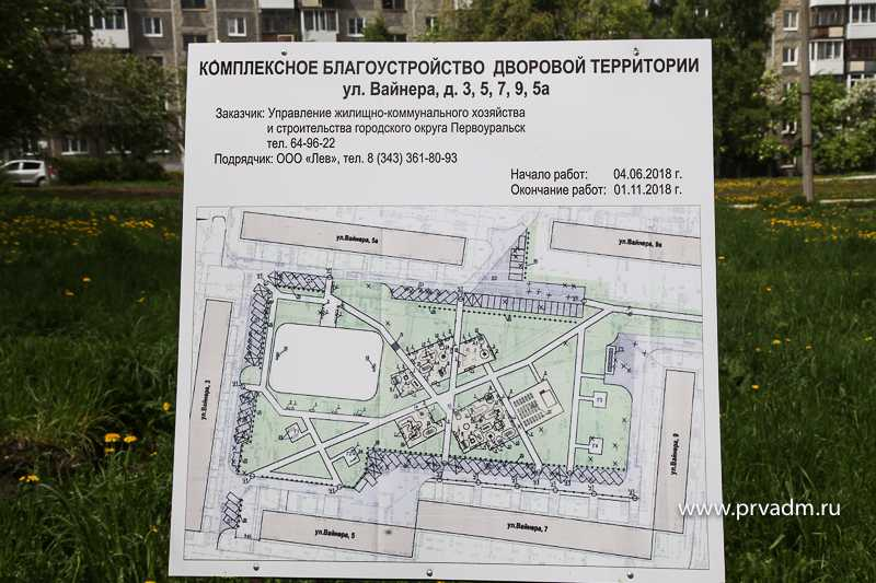 Администрация Первоуральска начала работы по реконструкции двора на Вайнера