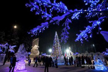 Ледовый городок Первоуральска простоит до Масленицы