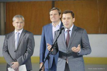 Евгений Куйвашев поддержал идею строительства в Первоуральске крытого комплекса для развития хоккея с мячом