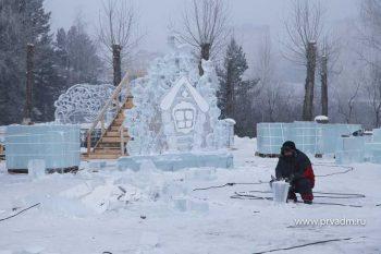 Ледовый городок в Парке новой культуры готов на 60%