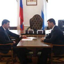 Евгений Куйвашев обсудил с Алексеем Дроновым развитие инфраструктуры Первоуральска
