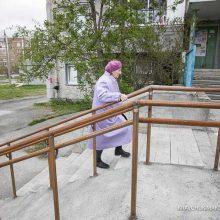 В Первоуральске продолжается ремонт лестниц