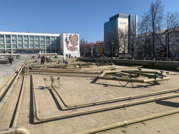 Фонтан на центральной площади Первоуральска планируют запустить к майским праздникам