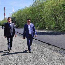 Игорь Кабец проинспектировал дорожный ремонт на Корабельном проезде