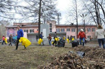 Генеральная уборка в театральном парке Первоуральска