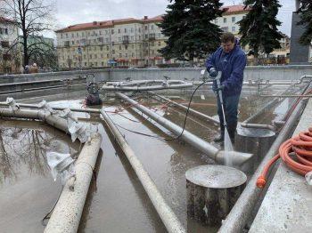Городской фонтан в Первоуральске готовят к запуску