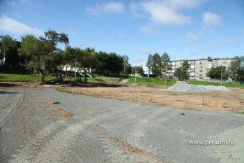 В школе №3 начали строить новый стадион