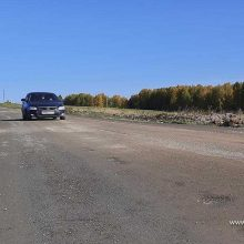 Дорогу до деревни Хомутовка отремонтировали