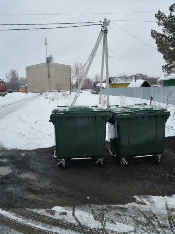 По просьбе жителей частного сектора установлены дополнительные контейнеры для сбора мусора