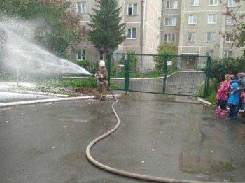Открытый урок в детском саду по пожарной безопасности
