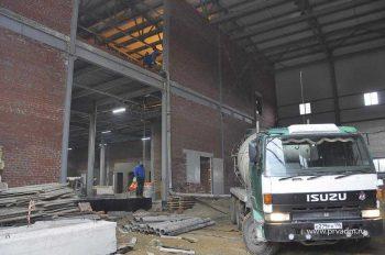 В Первоуральске заканчивается возведение здания насосно-фильтровальной станции