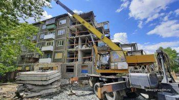 В Вересовке начался демонтаж подъезда многоквартирного дома, который пострадал от взрыва газа