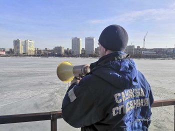 Спасатели просят не выходить на лёд