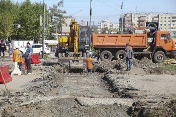 На проспекте Ильича начались подготовительные работы для замены теплосетей