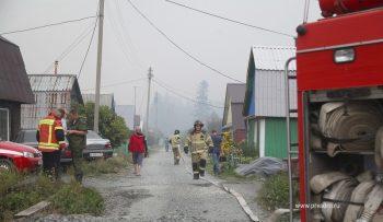 Лесной пожар произошел в районе горы Волчиха