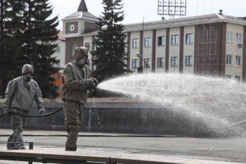 В Первоуральске продолжается дезобработка общественных мест