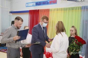 Игорь Кабец вручил спортсменам свидетельства об окончании детско-юношеской спортивной школы