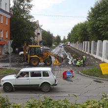 На улице Физкультурников начался дорожный ремонт