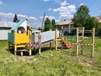 В поселке Кузино установили новый детский городок