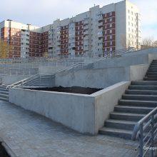 На первоуральской набережной завершилось обустройство лестницы